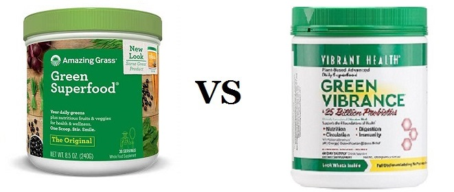 amazing grass vs green vibrabce