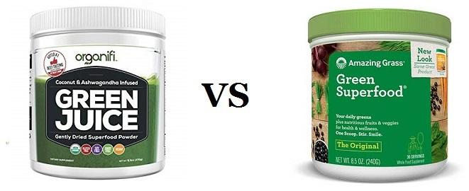 Organifi Green juice VS amazing Grass