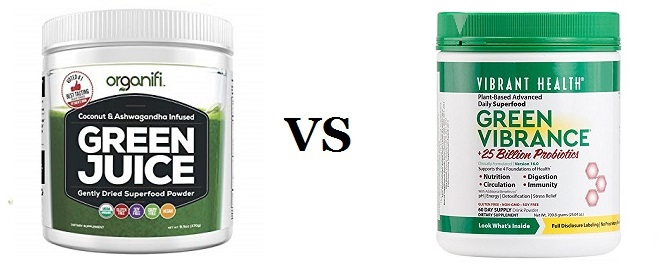 Organifi Green Juice VS Vibrant health Green Vibrance