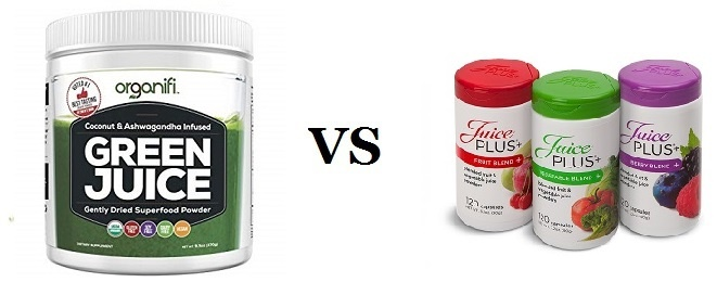 Organifi Green Juice VS Juice Plus
